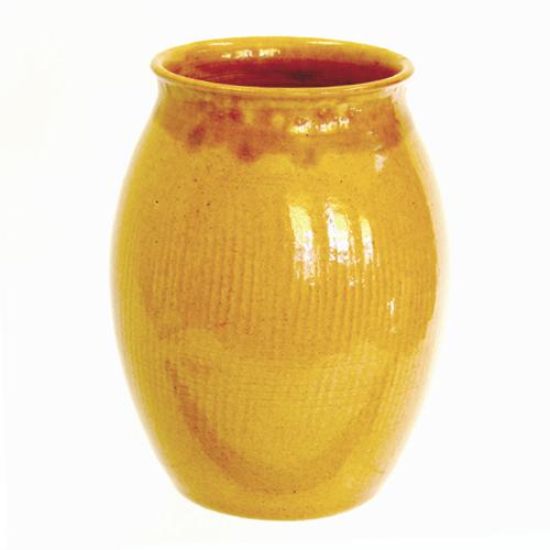 Ceramic pottery vase by southern folk potter, Roger Corn.