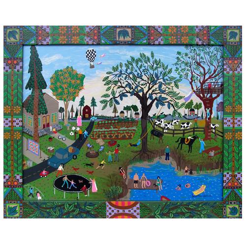"Photo of Dorethey Gorham's painting ""Summer Splenor"""