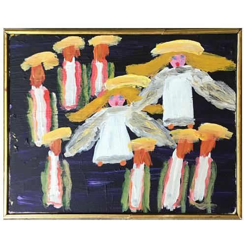 Folk painting by Alyne Harris.