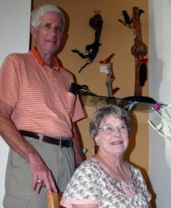 Kathy and Bob Kimmel folk artists