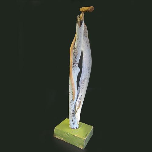 Self-taught artist Amy Lansburg sculpture of an angel.
