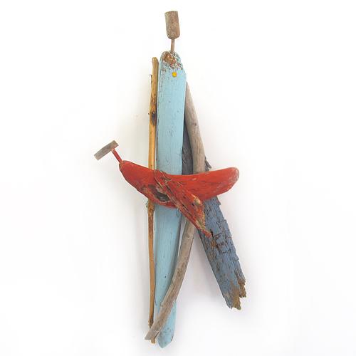 Driftwood sculpture by artist Amy Lansburg