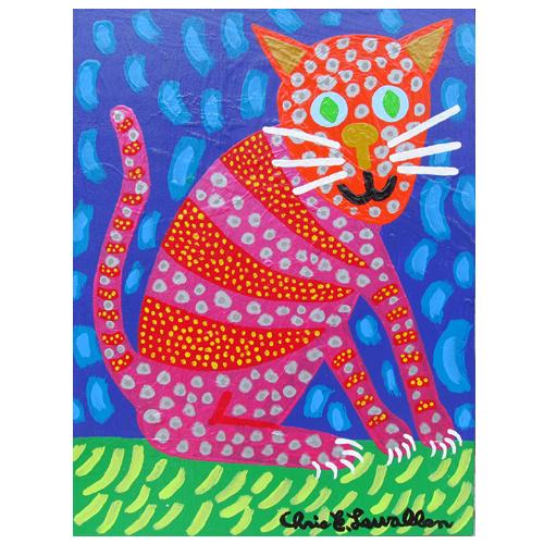 Cat painting by Chris Lewallen