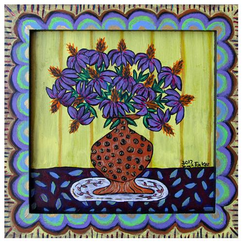 Rakes_31801_PurpleConeflowersOnATableTop_9x9_265