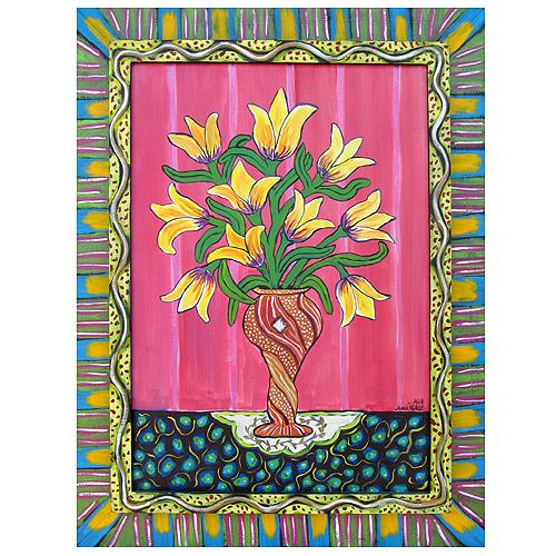 "Sarah Rakes painting ""Spring on a Tabletop"""