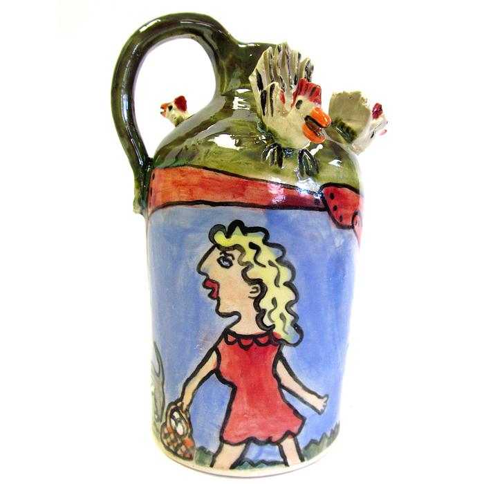 Carolyn Simmons southern folk pottery jug