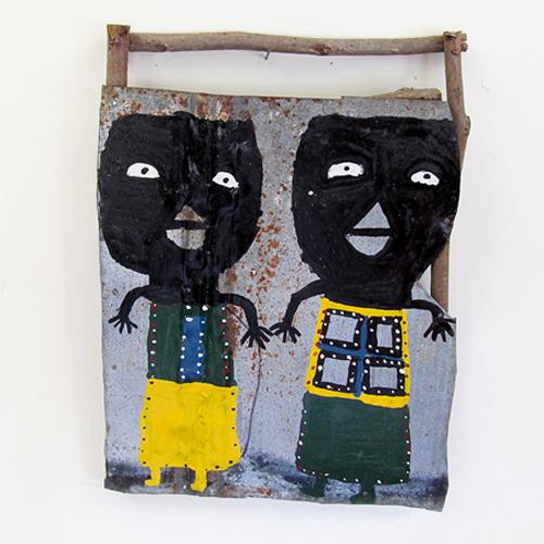 "Buddy Snipes ""Miss Window Payne Lady"" wall xculpture"