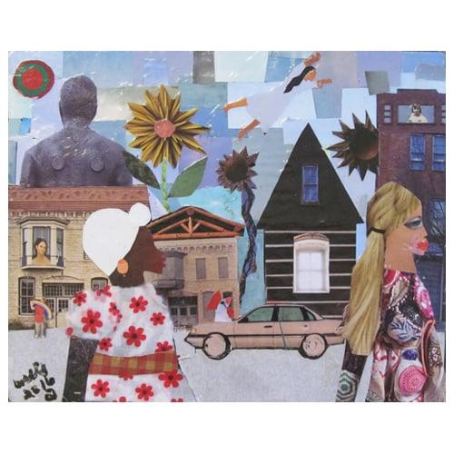 "Della Wells Collage ""Judith's World."""
