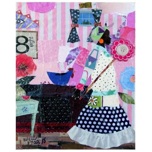 """Della Wells Collage """"Nola's Room."""""""