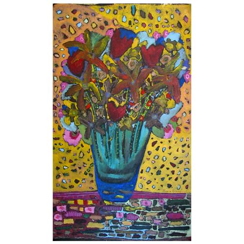 Theresa Disney painting of flowers.