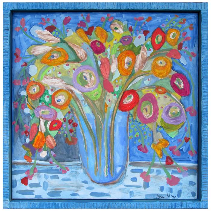 "Self-taught artist, Theresa Disney floral painting,""Sophia."""