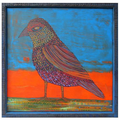 "Theresa Disney bird painting ""Harper."""