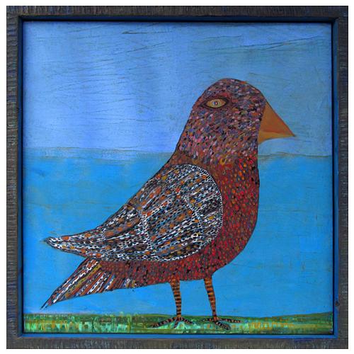 "Theresa Disney bird painting ""Avery."""