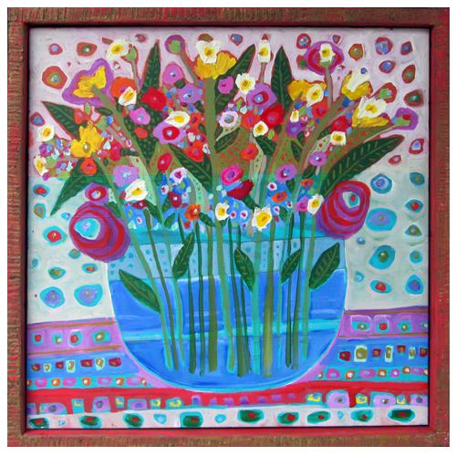 "Theresa Disney floral painting ""Madison"""