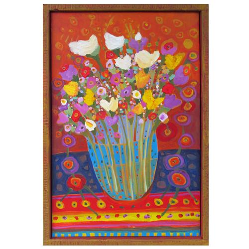 "Theresa Disney floral painting ""Aria"""