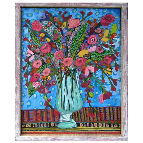 "Theresa Disney floral painting ""Olivia"""