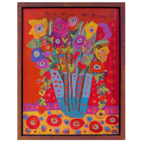"Theresa Disney floral painting ""Raquel"""