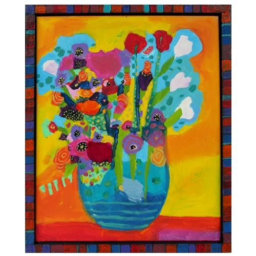 "Theresa Disney floral painting ""Luna"""