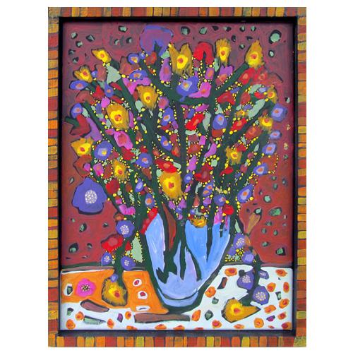 "Theresa Disney floral painting ""Natalie"""
