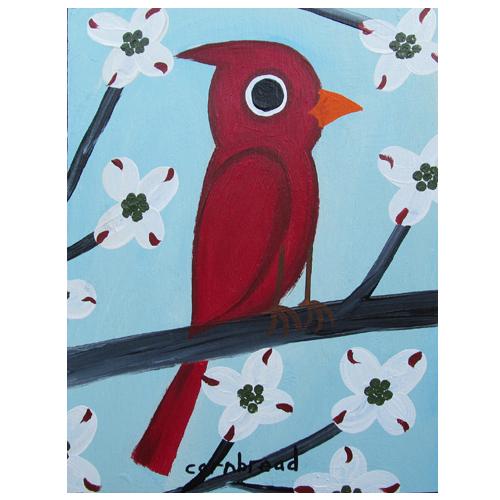 Cornbread's Cardinal Painting
