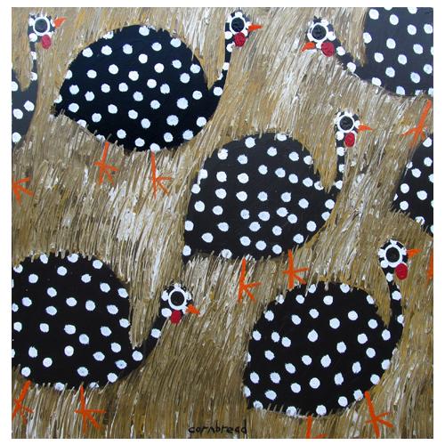Cornbread's Guinea Hen Painting