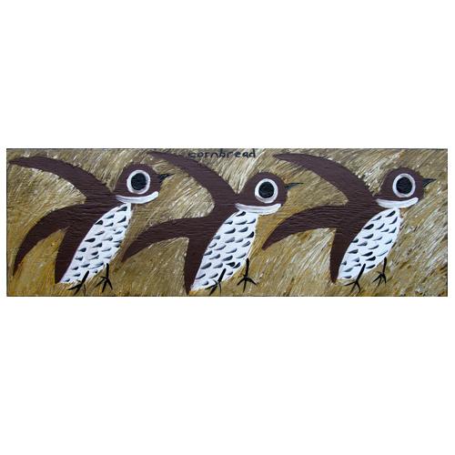 Cornbread painting of Bobwhites