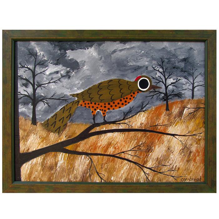 """Painting, """"Flicker"""" by folk artist, John """"Cornbread"""" Anderson."""