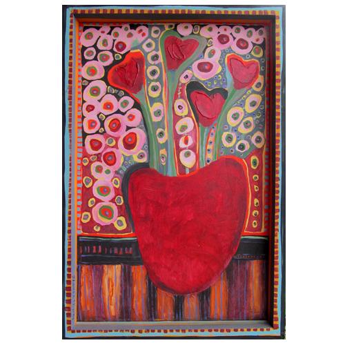 "Theresa Disney floral painting ""Valentine"""