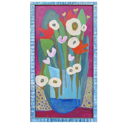 "Theresa Disney floral painting ""Fantasy"""