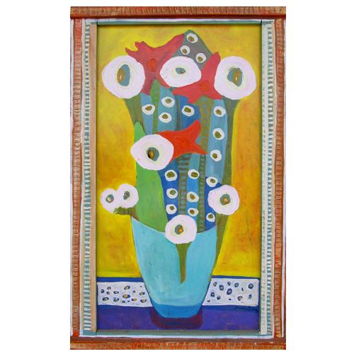 "Theresa Disney floral painting ""Elegant"""