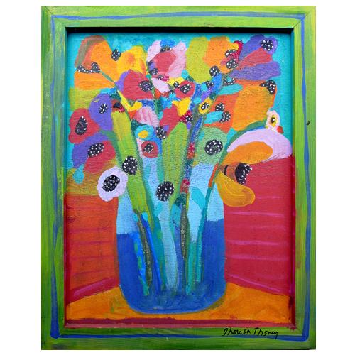 "Theresa Disney floral painting ""Springtime"""