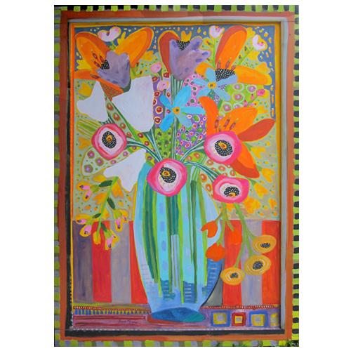 "Theresa Disney floral painting ""Shangrila"""