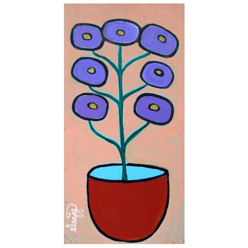 "Eric Legge, self-taught artist, painting, ""7 Flowers."""