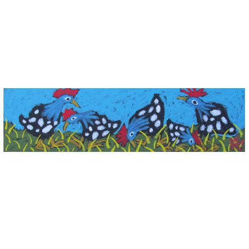 John Sperry painting of guinea hens
