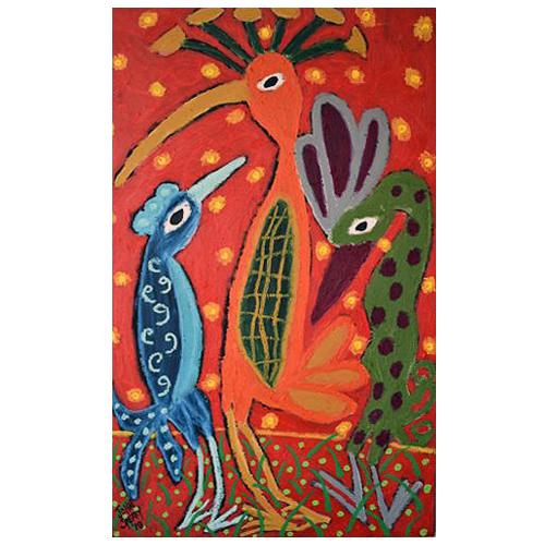 John Sperry, self-taught artist, painting of birds