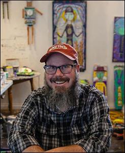Photo of self-taught artist, Jim Kopp.